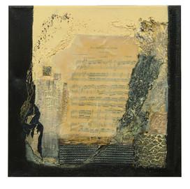 Note d'opera 2 (50x50)cm, Techniques mixtes sur toile