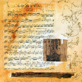 Watermusic 1 (30x30)cm, Techniques mixtes sur papier
