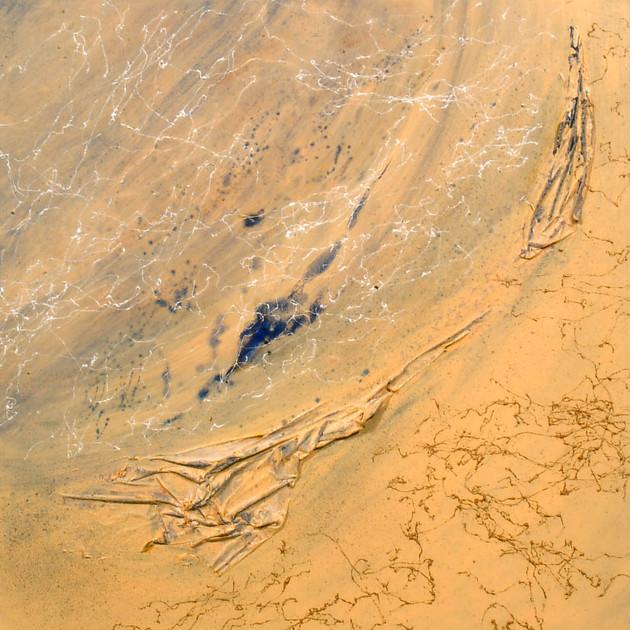 Mémoire de poussières 2 (100x100)cm, Techniques mixtes sur toile