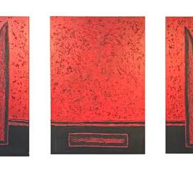 Totem (2x70x160)cm et (100x160)cm, Techniques mixtes sur toile