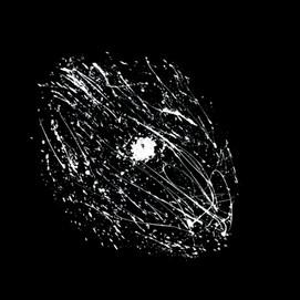 Galaxie 6 (100x100)cm, Techniques mixtes sur plexis noir