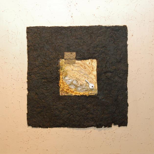 Clef de sol 2 (75x75)cm, Techniques mixtes