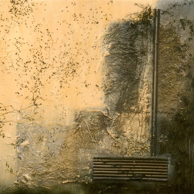Concerto pour piano 2 (46x46)cm, Techniques mixtes sur toile