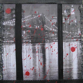 New York 14 ( 30x30)cm, Techniques mixtes sur toile