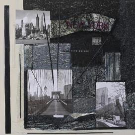 New York 5(70x70)cm, Techniques mixtes sur toile
