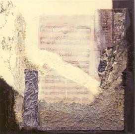 Note d'opera 1 (50x50)cm, Techniques mixtes sur toile