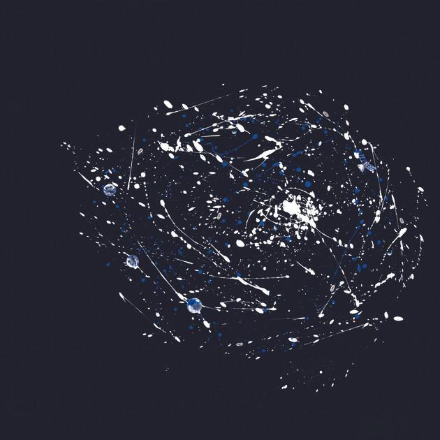 Galaxie 5 (100x100)cm, Techniques mixtes sur plexis noir