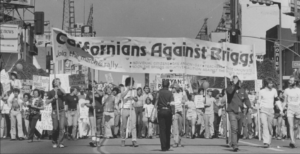 In 1978, Teachers unions & labor movement helped defeat the Briggs Initiative that would have banned gay teachers in CA  UAW Local 5810