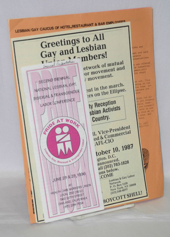 Lesbian and Gay Labor handbills and brochures [Six brochures and four handbills]  Source: Bolerium Books
