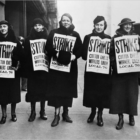 Cotton Dress Workers Union on Strike