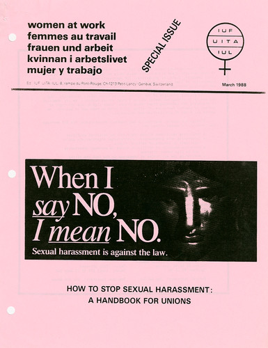 How to Stop Sexual Harassment: A Handbook for Unions. International Union of Food and Allied Workers' Associations. March 1988.