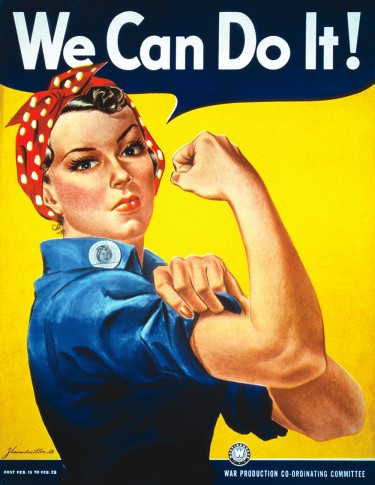 Rosie the Riveter represented the women who worked in factories and shipyards during World War II