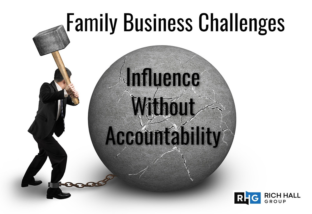 "family-owned business, influence without accountability, ""rich hall group"", ""executive coach"""
