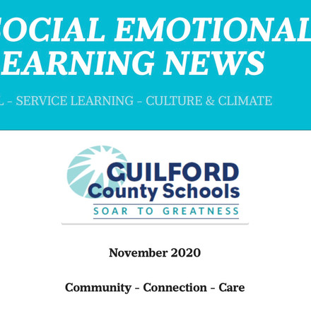 GCS SEL November 2020 Newsletter