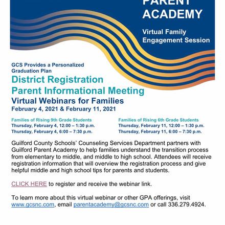 GCS GPA Parent Informational meeting