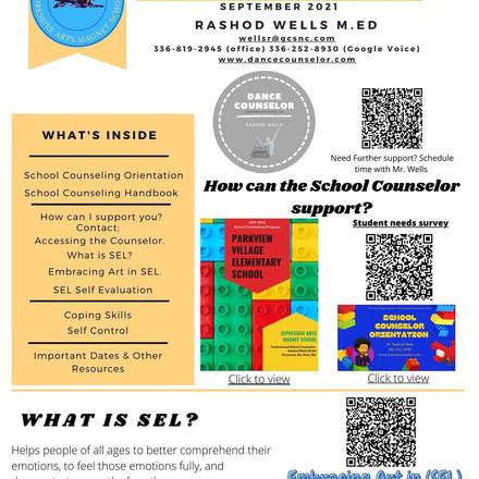 Parkview's School Counselor (September Newsletter)