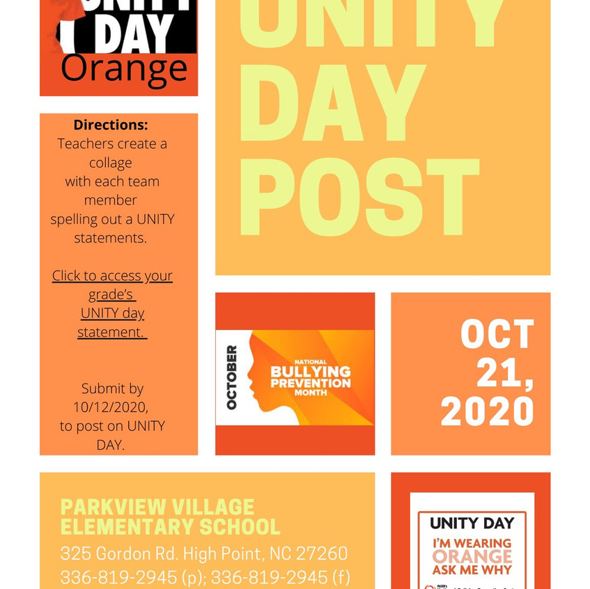 Unity Day School Project (Submit your picture)