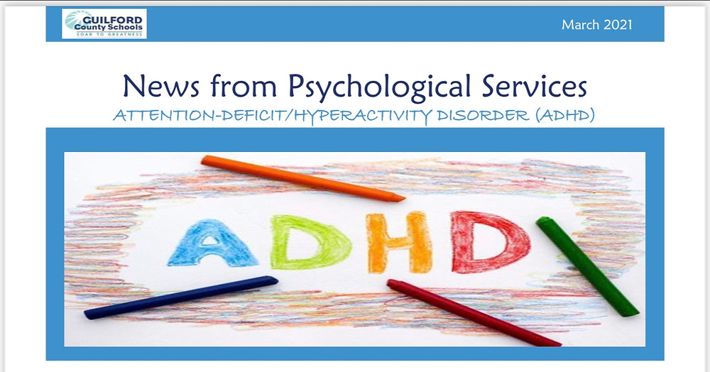 ADHD Psychological department newsletter