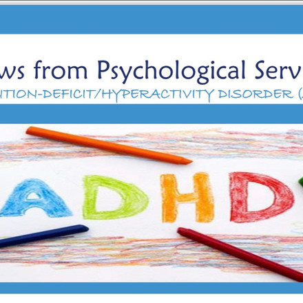 Psychological Services department news