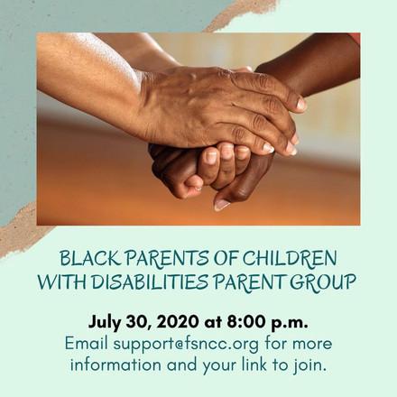 Black Parents of Children with Disabilities Parent Group