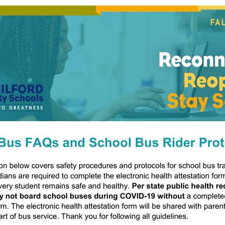 (GCS School Bus FAQ) School Bus rider protocol