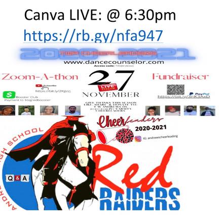 Help support & sponsor TW Andrews HS 2020-2011 cheerleading team