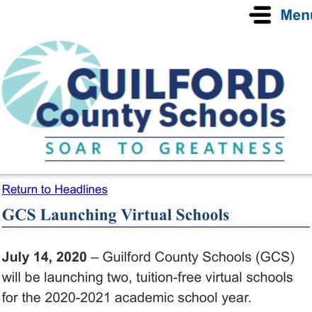Register for GCS virtual school
