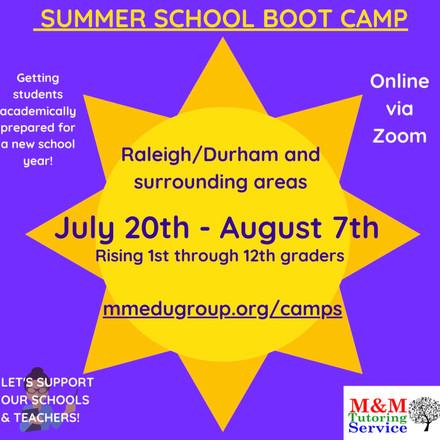 Summer School bootcamp