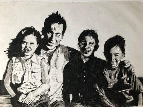 Portrait: A3 Black & White Framed