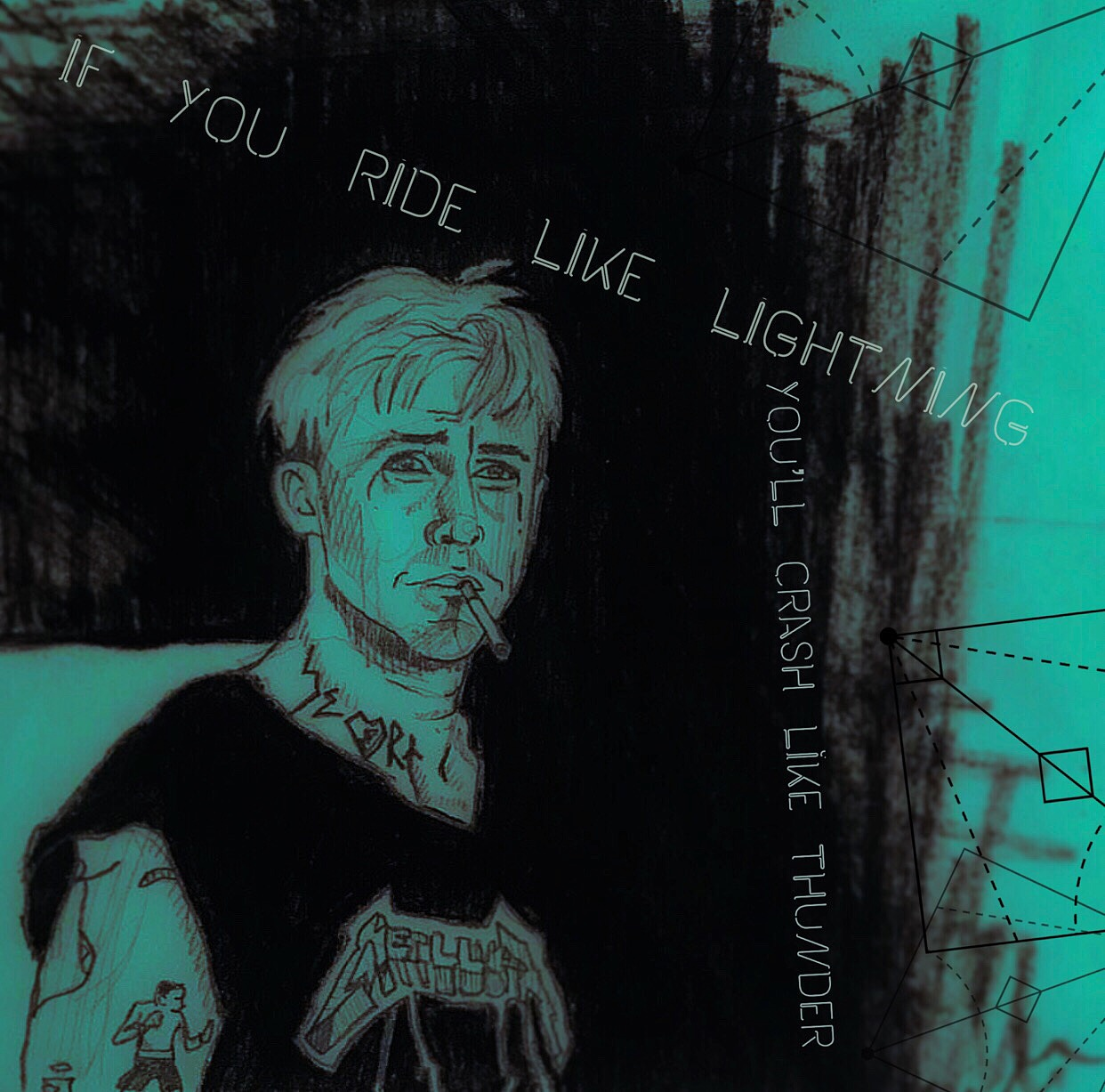 Illustration art of ryan gosling the place beyond the pines alexandra godwin your place to space