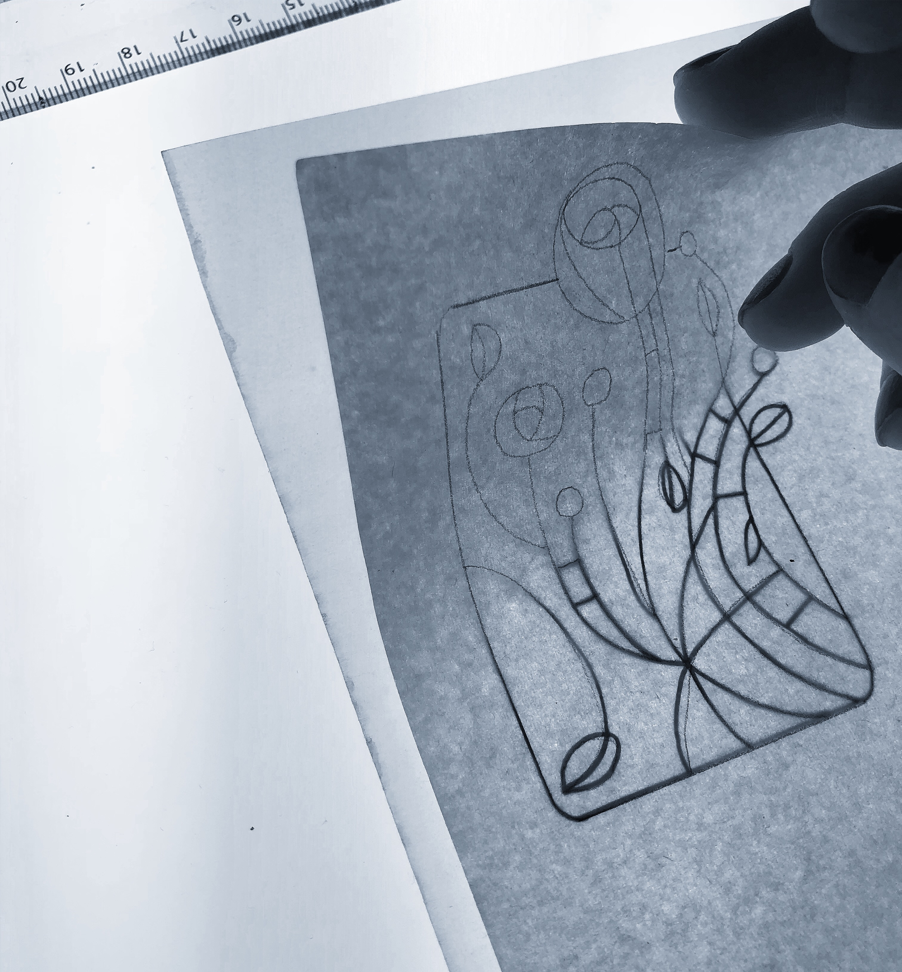 mackintosh rose sketch Your Place To Space tattoo work by Alexandra Godwin