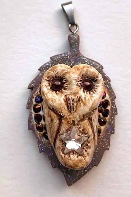 Wild Mascot Amulet: Barn Owl
