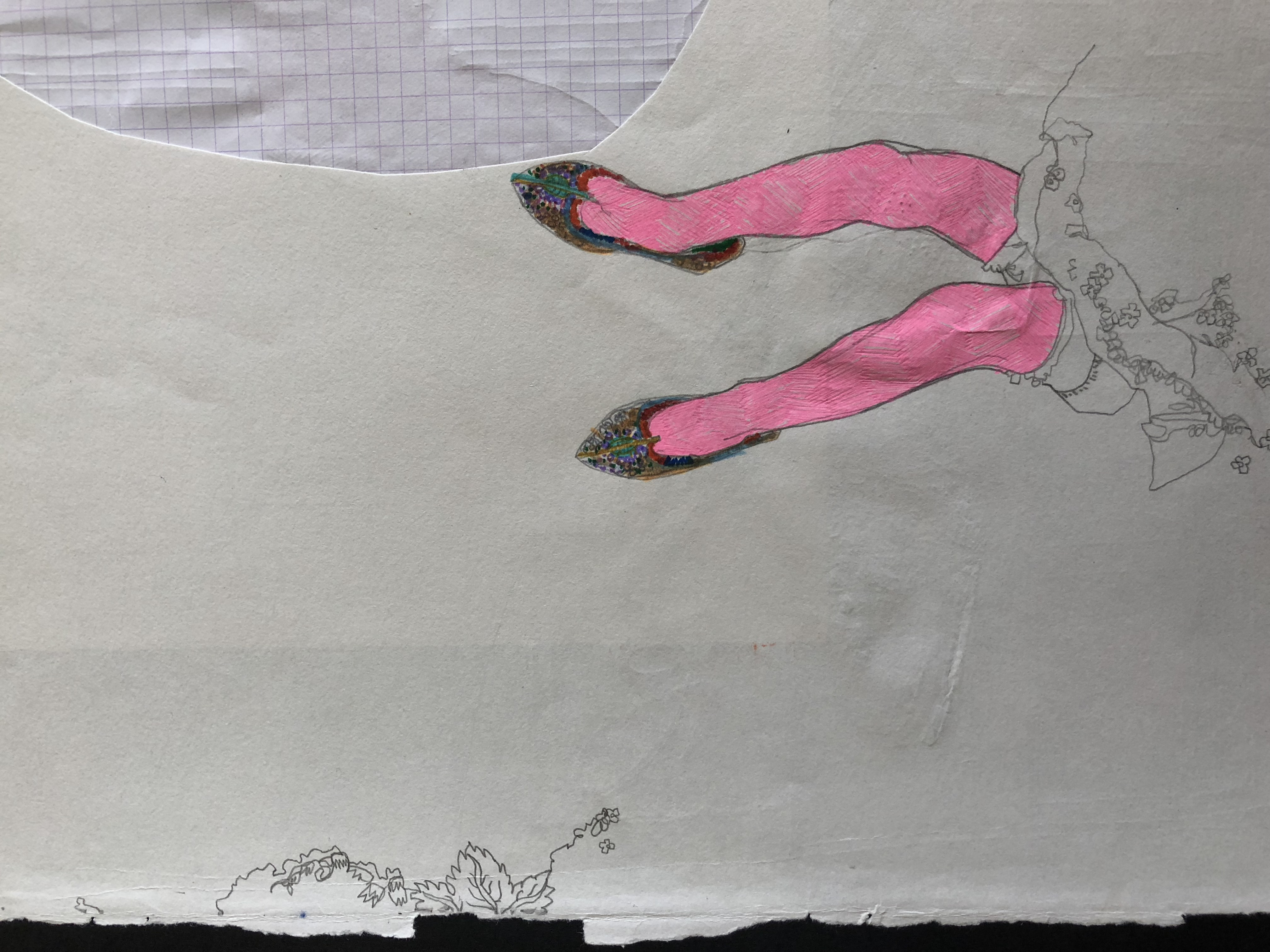 drawing of kids legs by alexandra godwin your place to space