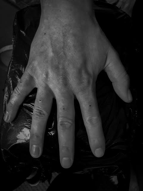 dots on fingers Your Place To Space tattoo work by Alexandra Godwin