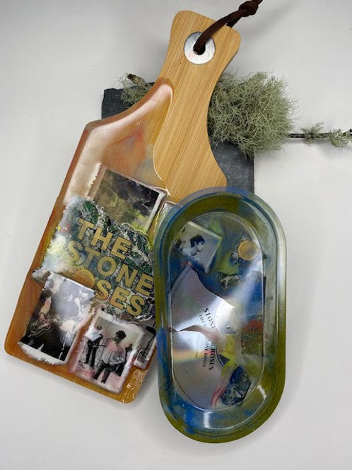Resin Board & Tray Set: Stone Roses Smashed CD