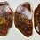 Thumbnail: Resin Slices: Two Way - Chocolate Gold Leaf & Galaxy Holographic (6pcs)