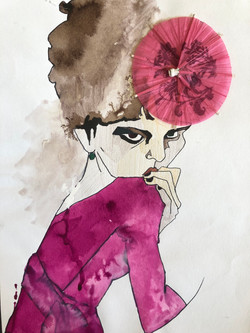 fashion illustration by alexandra godwin your place to space