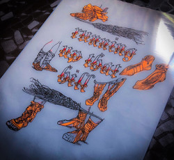 running up that hill kate bush typography drawing by alexandra godwin your place to space