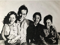 portrait of a family black and white by alexandra godwin your palce to space