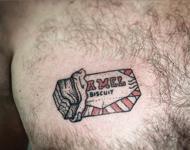 tunnocks wafer handpoked tattoo by alexandra godwing your place to space glasgow