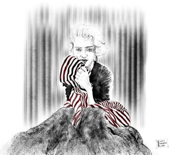 Madonna in the 80s by alexandra godwin your place to space illustration digital art