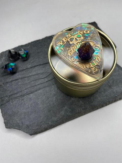 Gem Tin: Ouija Planchette - Gold Detailing & Crystal Peak