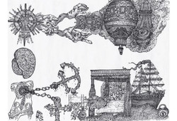 superconscious attic subconscious basement drawing scroll by alexandra godwin your place to space