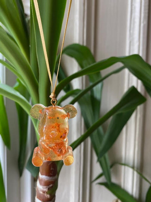 Resin Charm: Clementine Teddy - Rose Gold