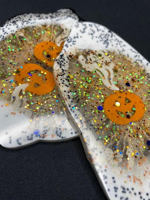 Resin Slices: Halloween Collection - Pumpkin Surprise (2pcs)