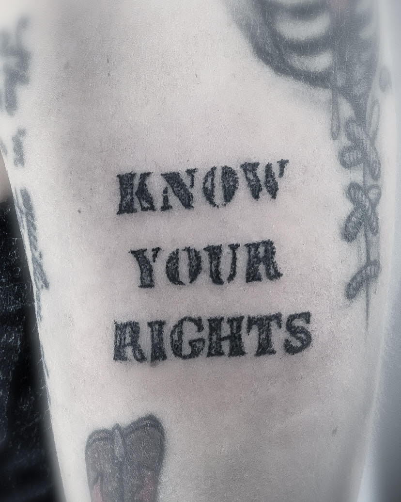 know your rights the clash tattoo alexandra godwin your place to space