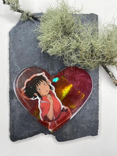 Resin Slice: Studio Ghibli Collection - Firey Chihiro Ogino Heart
