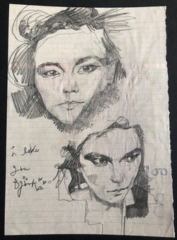 Bjork sketch by alexandra godwin your place to space