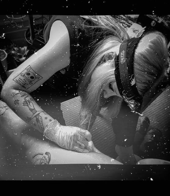 Your Place To Space tattoo work by Alexandra Godwin