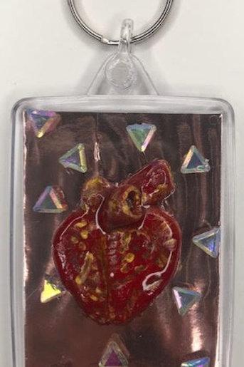 Talisman Keyring: Anatomical Heart